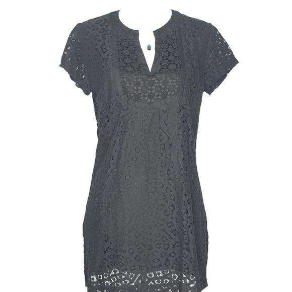 Isaac Mizrahi Dresses & Skirts - Isaac Mizrahi Black Mini Short Lace Dress A100263